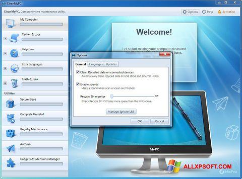 Screenshot CleanMyPC for Windows XP