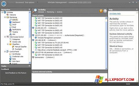 Screenshot WinGate for Windows XP