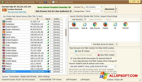 Screenshot Hide ALL IP for Windows XP