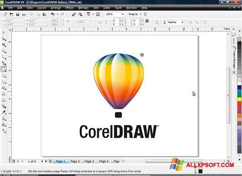 Screenshot CorelDRAW for Windows XP