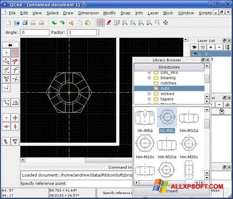Screenshot QCad for Windows XP