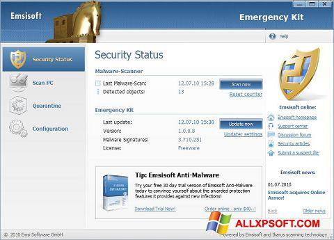 Screenshot Emsisoft Emergency Kit for Windows XP