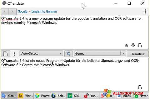 Screenshot QTranslate for Windows XP