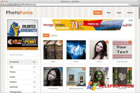 Screenshot PhotoFunia for Windows XP