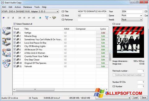Screenshot Exact Audio Copy for Windows XP