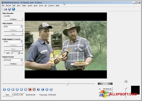 Screenshot Avidemux for Windows XP