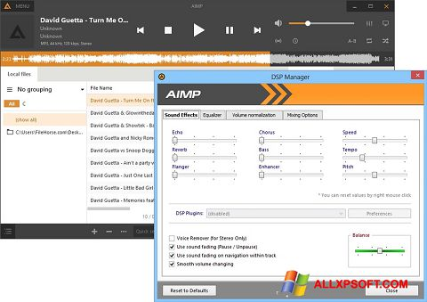 Screenshot AIMP for Windows XP