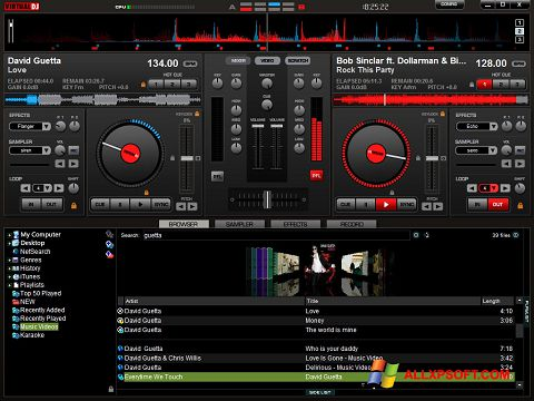 Screenshot Virtual DJ Pro for Windows XP