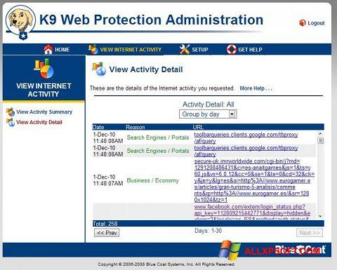 Screenshot K9 Web Protection for Windows XP