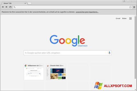 Screenshot Google Chrome for Windows XP