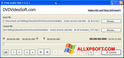 Screenshot Free Audio Dub for Windows XP