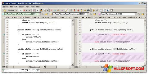 Screenshot Beyond Compare for Windows XP