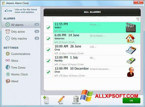 Screenshot Atomic Alarm Clock for Windows XP