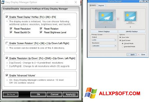 Screenshot Easy Display Manager for Windows XP