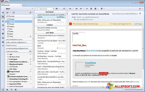 Screenshot Opera Mail for Windows XP