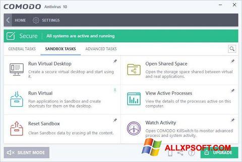 Screenshot Comodo Antivirus for Windows XP