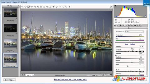 Screenshot Adobe Camera Raw for Windows XP