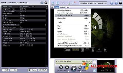 Screenshot FLV Player for Windows XP