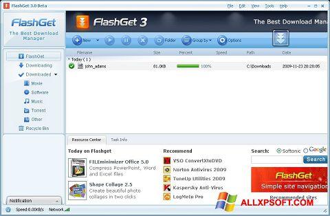 Download FlashGet for Windows XP (32/64 bit) in English