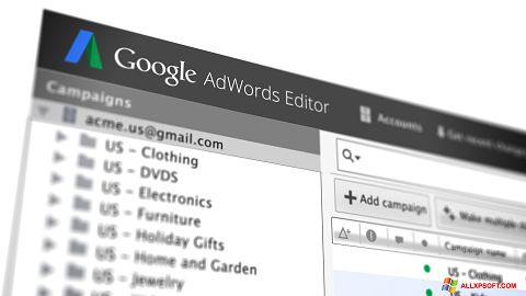 Screenshot AdWords Editor for Windows XP