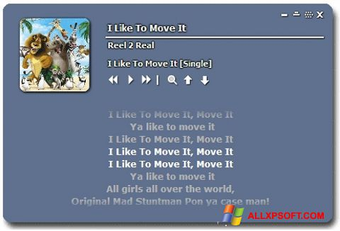 Screenshot Minilyrics for Windows XP