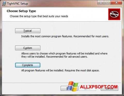 Screenshot TightVNC for Windows XP