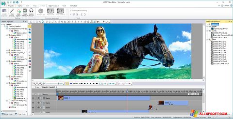 Screenshot Free Video Editor for Windows XP