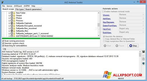 Screenshot AVZ for Windows XP