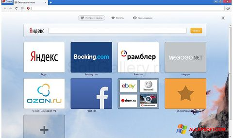 Screenshot Opera Next for Windows XP