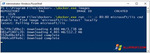 Screenshot Windows PowerShell for Windows XP