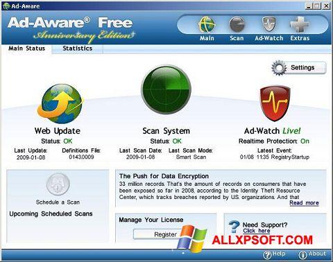 Screenshot Ad-Aware Free for Windows XP