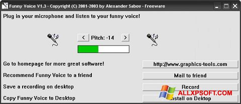 Screenshot Funny Voice for Windows XP