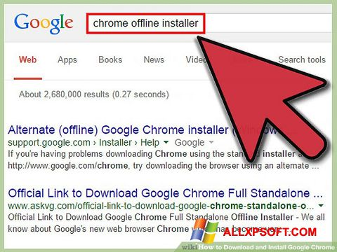 Screenshot Google Chrome Offline Installer for Windows XP