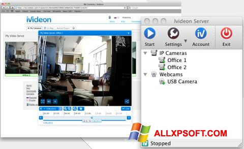 Screenshot Ivideon Server for Windows XP