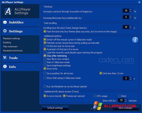 Screenshot ALLPlayer for Windows XP