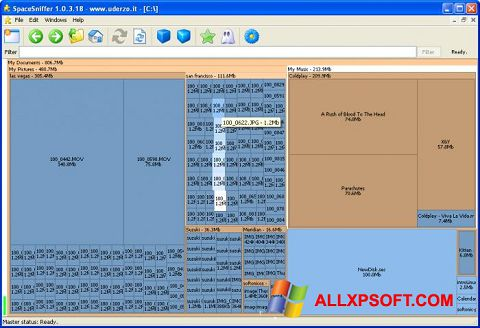 Screenshot SpaceSniffer for Windows XP