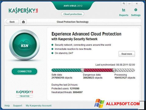 Screenshot Kaspersky for Windows XP