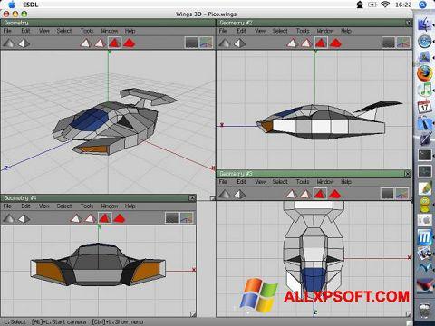 Screenshot Wings 3D for Windows XP