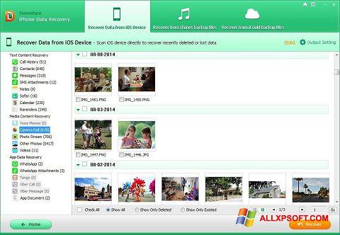 Screenshot iPhone Data Recovery for Windows XP