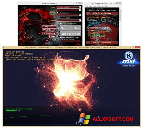 Screenshot MSI Kombustor for Windows XP