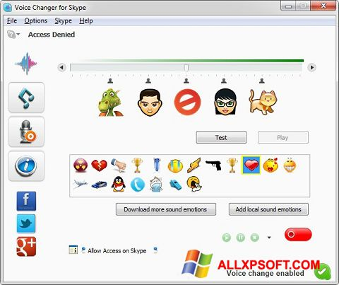 Screenshot Skype Voice Changer for Windows XP