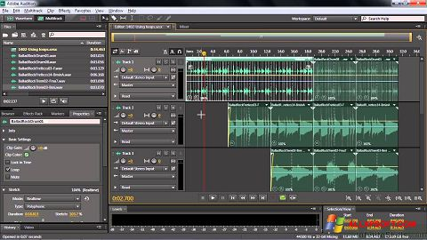 Screenshot Adobe Audition CC for Windows XP