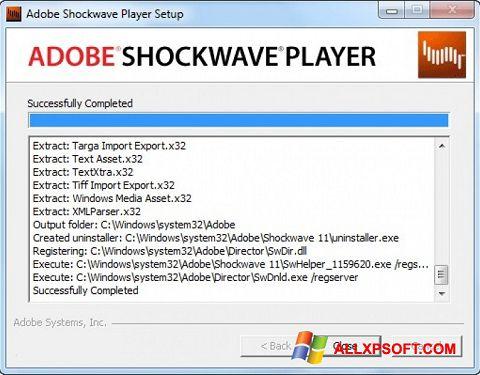 Screenshot Shockwave Player for Windows XP