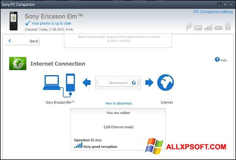 Screenshot Sony PC Companion for Windows XP