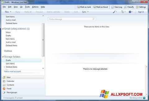 Screenshot Windows Live Mail for Windows XP