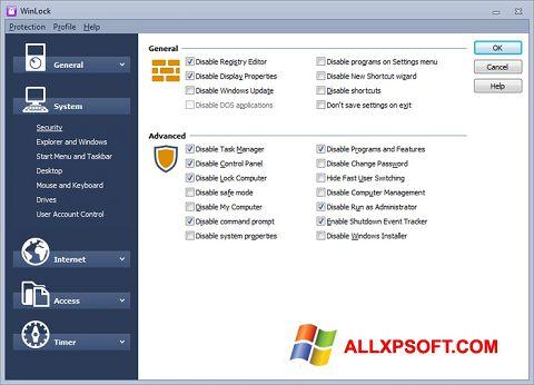 Screenshot WinLock for Windows XP