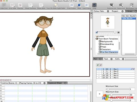 Screenshot Toon Boom Studio for Windows XP