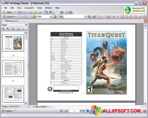 Screenshot PDF-XChange Viewer for Windows XP