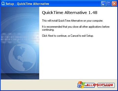 Screenshot QuickTime Alternative for Windows XP