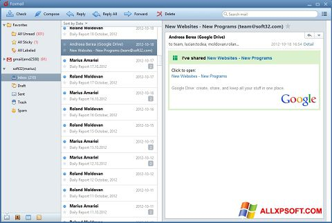 Screenshot FoxMail for Windows XP
